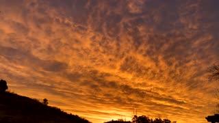 Colorado sunrise time lapse video