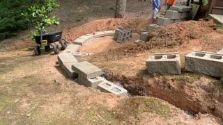 DIY Patio and Brick Wall Project