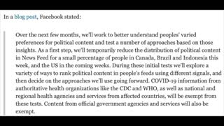 """Facebook To Suppress Political Content and Use an """"Internal Ranking System"""""""
