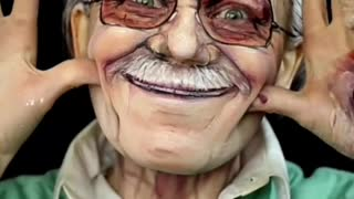 Makeup tribute to Stan Lee
