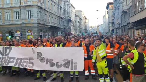 Italian anti-vaccine mandate protests