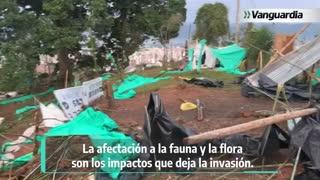 Así fue el operativo de desalojo en predios invadidos de los Cerros Orientales de Bucaramanga