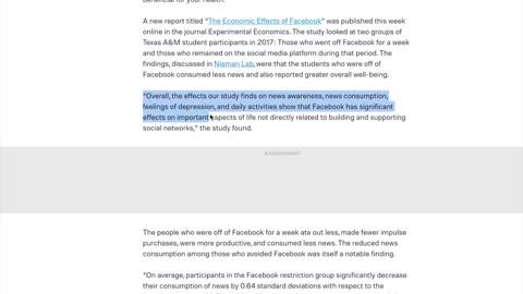 Social Media statistics - Not Good