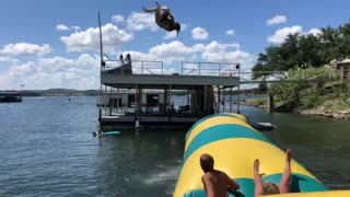 Launching People into a Lake on Labor Day