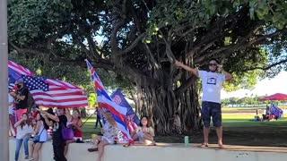 Free Hawaii/Trump Rally Ala Moana, Oahu, Hawaii