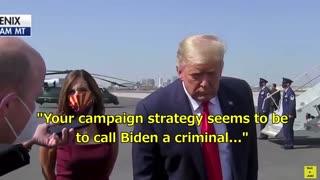 Trump calls Biden a criminal