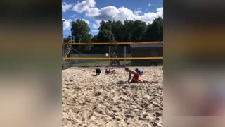 Dog playing volleyball great video