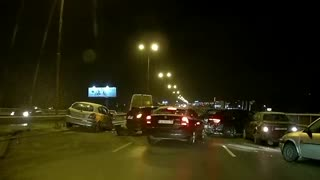Icy Highway Causes Multiple Car Pileup in Bulgaria