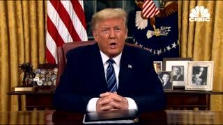 President Donald Trump on coronavirus risk