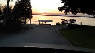 Driving into a Florida Sunset