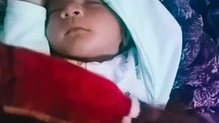 Sweet baby sleeping style