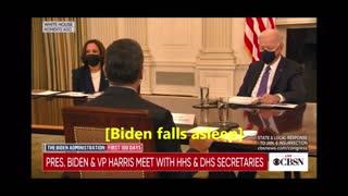 Joe Biden Falls Asleep on Live TV!