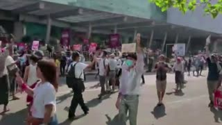 Myanmar riot police fire to break up protests