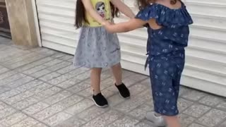 Baby playing new video