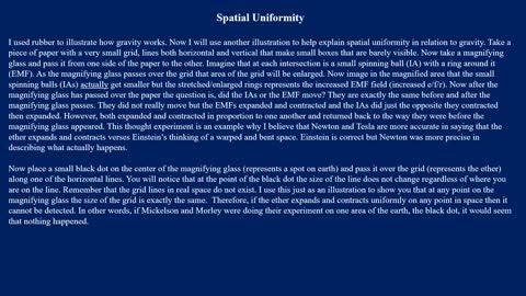 PS6 Spatial Uniformity