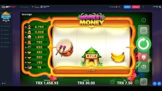 Playing Monkey Money TRX Slots Machine On Bet Fury