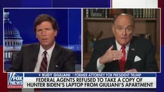 Rudy Giuliani Tells Tucker Carlson About FBI Raiding His Home