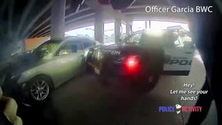 Bodycam Footage of Houston Officers Shooting Suspect in His Crashed Car