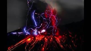 When lightning strikes and volcanic lightning