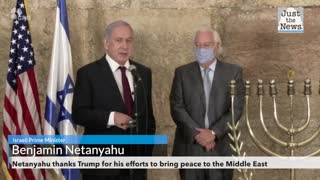 Netanyahu thanks Trump for his efforts to bring peace to the Middle East