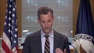 Reporter calls out State Department spokesman on Cuba sanctions.