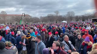 Trump Supporters Peacefully Protesting in US Capitol