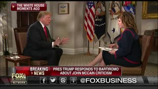 Maria Bartiromo to Trump: 'Mr. President, [McCain's] Dead. He Can't Punch Back'