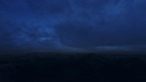 Storm in ocean sound