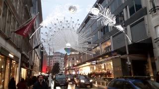 Christmas time oxford street london