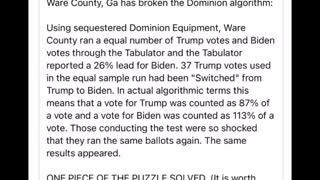 READ THIS!! Breaking Dominion machine Algorithm