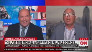 Author Michael Wolff HUMILIATES CNN's Brian Stelter...on his own show!