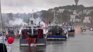 Fishermen protest French offshore windfarms