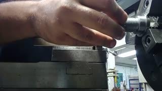 left thread machining on lathe