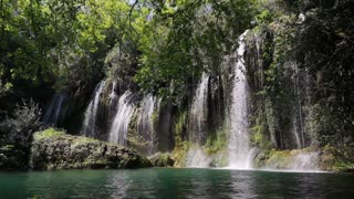 Beautiful Waterfalls With Relaxing Background Music