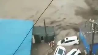 Major Flood In China's Henan Province Due To Heavy Rain. Zhengzhou Hit Hard