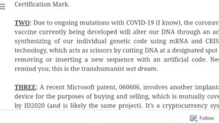 BILL GATES Admits Covid Vaccine ALTERS DNA