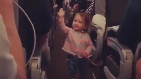 The flight time shifted and this angel is giving high five for everybody.