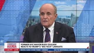 Rudy Giuliani Blasts Youtube, Facebook and Twitter Censorship