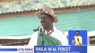 Raila Odinga urges West Pokot residents to support constitutional changes proposed in BBI report