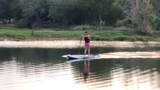 Her First Time on a Paddle Board