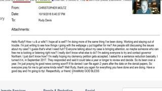 8 - Chris Moltz (LIFE without Parole in VA Prison) Email