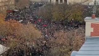 France Protest November 2020 Chanting USA