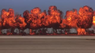 Awesome Explosion from a Fighter Jet