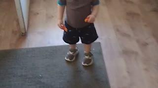 Dancing grandson