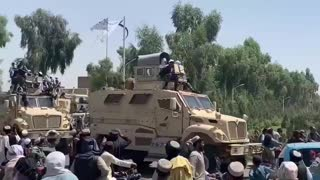 Taliban throw military parade with US equipment