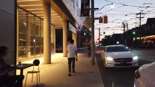 Friday Night Walk In Toronto Downtown