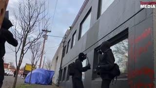 Antifa Destroy Dem Party Headquarters In Oregon As Biden Takes Office