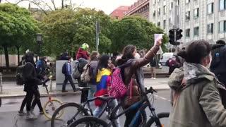 Protesta por el Paro Nacional   Alemania