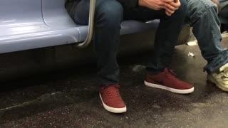 "Drunk guy sings ""all of me"" on subway train by himself"