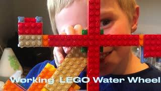 Working LEGO Water Wheel